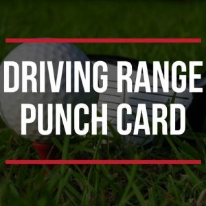 Driving Range Punch Card